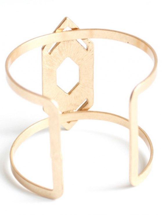 Rhinestone Arrow Cuff Bracelet - GOLDEN  Mobile