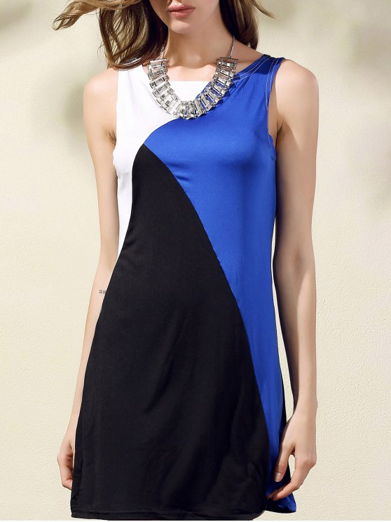 sale Color Block Tank Dress - COLORMIX ONE SIZE(FIT SIZE XS TO M)