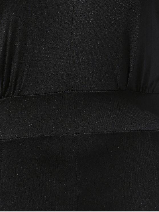 Black Halter Wide Leg Jumpsuit - BLACK XL Mobile