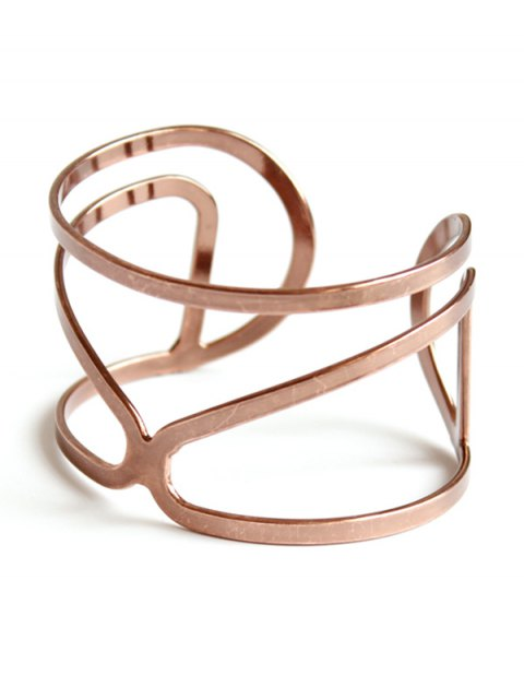 ladies Hollow Out Bohemian Style Bracelet - ROSE GOLD  Mobile
