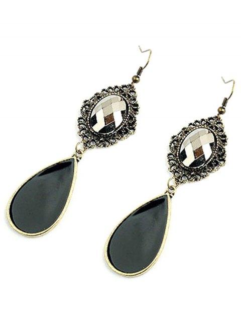 fashion Baroque Style Jewelry Pendant Earrings - BLACKISH GREEN  Mobile
