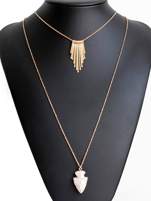 Tassel Shield Double Sweater Chains For Women