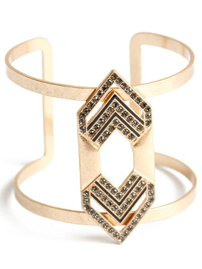 Rhinestone Arrow Cuff Bracelet