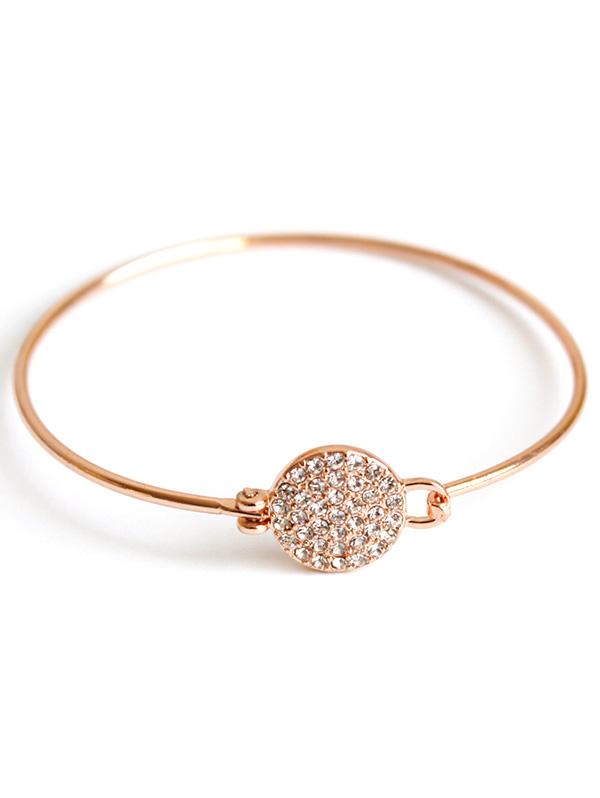 Rhinestone Round Alloy Bracelet For Women