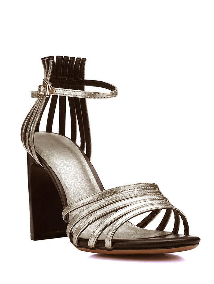 Chunky Heel Design Sandals For Women
