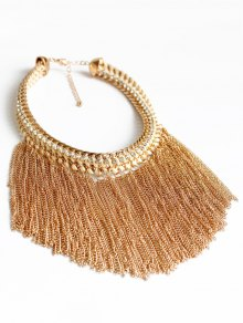 Alloy Chunky Tassels Statement Necklace