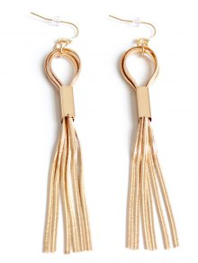 Hollow Out Alloy Tassel Long Earrings