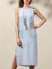 Drop Armhole Denim Dress