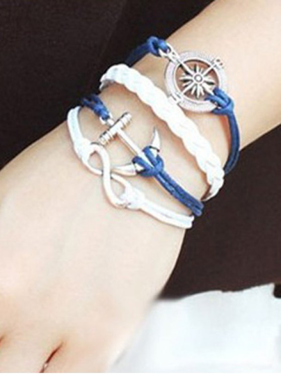 Infinite Compass Anchor Bracelet - BLUE  Mobile