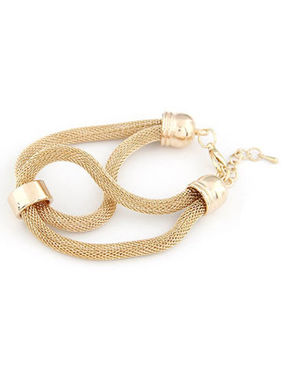 Hollow Out Infinite Bracelet - GOLDEN  Mobile