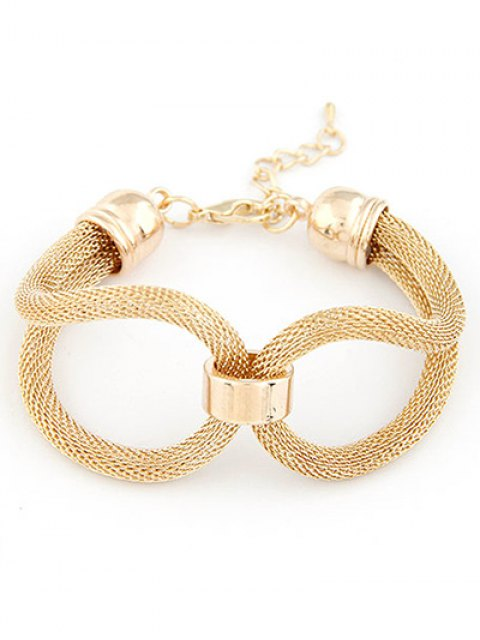 chic Hollow Out Infinite Bracelet - GOLDEN  Mobile