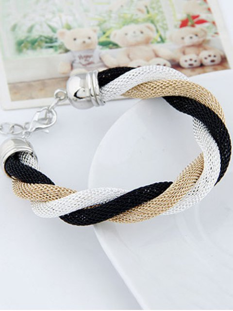 buy Three Color Match Twining Bracelet - WHITE  Mobile