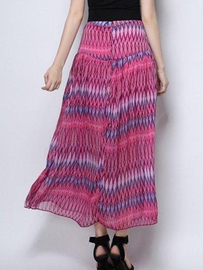 Zig Zag Print High Waist  Skirt - ROSE S Mobile