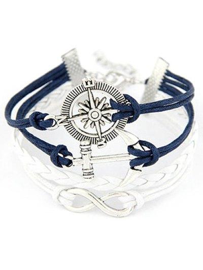 Infinite Compass Anchor Bracelet - BLUE  Mobile