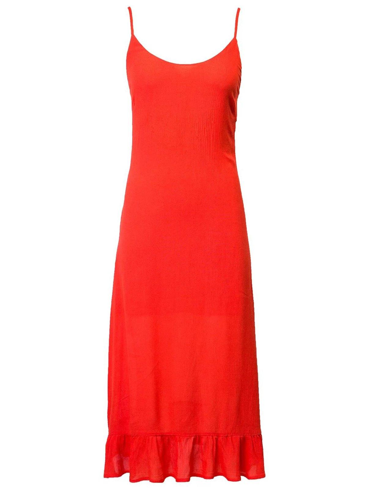 Cami Lace Up Flouncing Dress