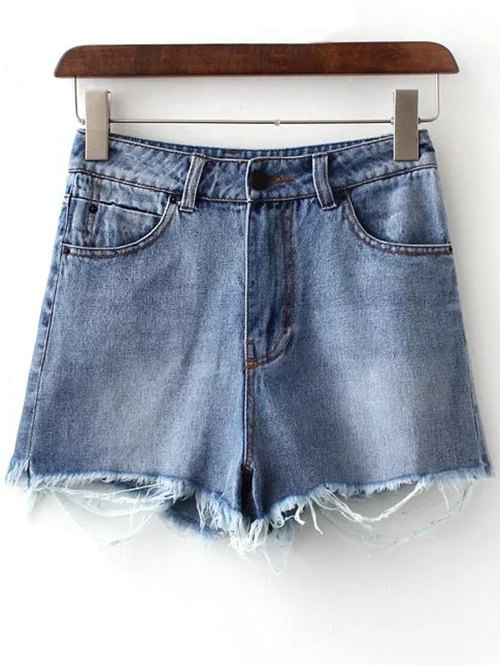 Zipper Fly Rough Selvedge Denim Shorts