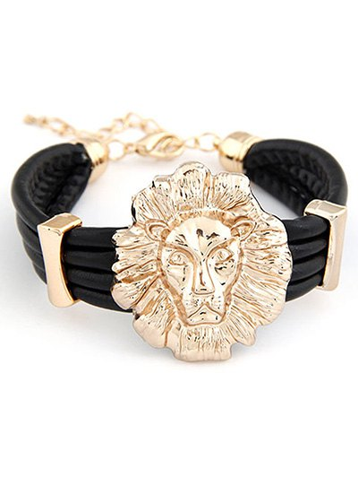 Lion Head Punk Bracelet