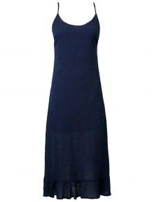 Lace Up Cami Flouncing Dress