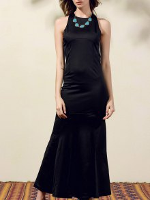 Back Cut Out Formal Maxi Mermaid Dress