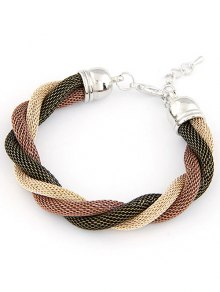 Three Color Match Twining Bracelet