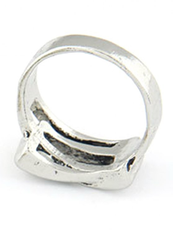 Personality Belt Buckle Ring - SILVER  Mobile