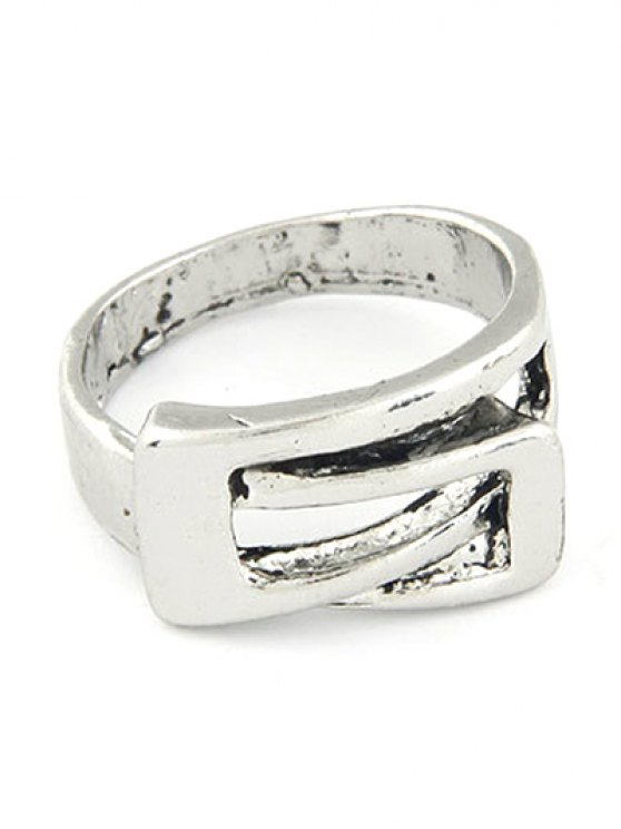 women's Personality Belt Buckle Ring - SILVER