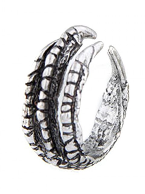 lady Vintage Eagle Claw Ring - SILVER  Mobile