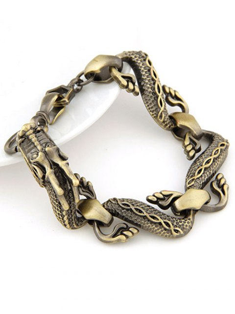 women Retro Dragon Bracelet - BRONZE-COLORED  Mobile