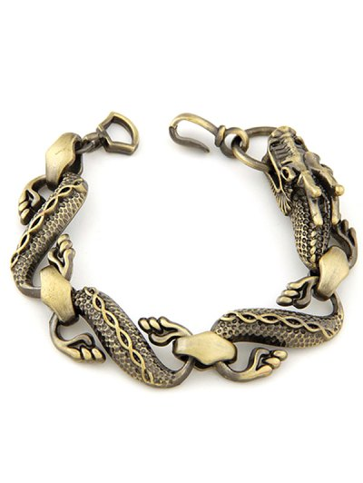 Retro Dragon Bracelet - BRONZE-COLORED  Mobile