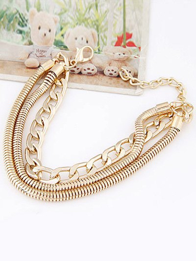 Punk Style Multilayered Bracelet - GOLDEN  Mobile