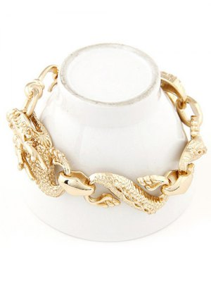 Retro Dragon Bracelet - Golden