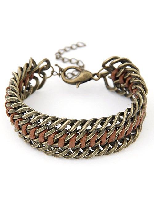 Punk Alloy Weaving Bracelet
