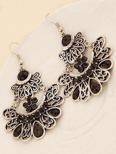 Rhinestone Baroque Earrings