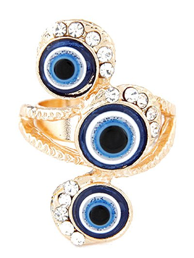 Personality Rhinestone Eyes Ring