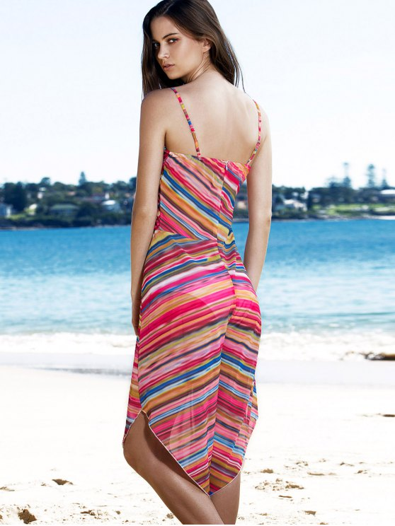 Striped Colorful Playsuit - COLORMIX M Mobile