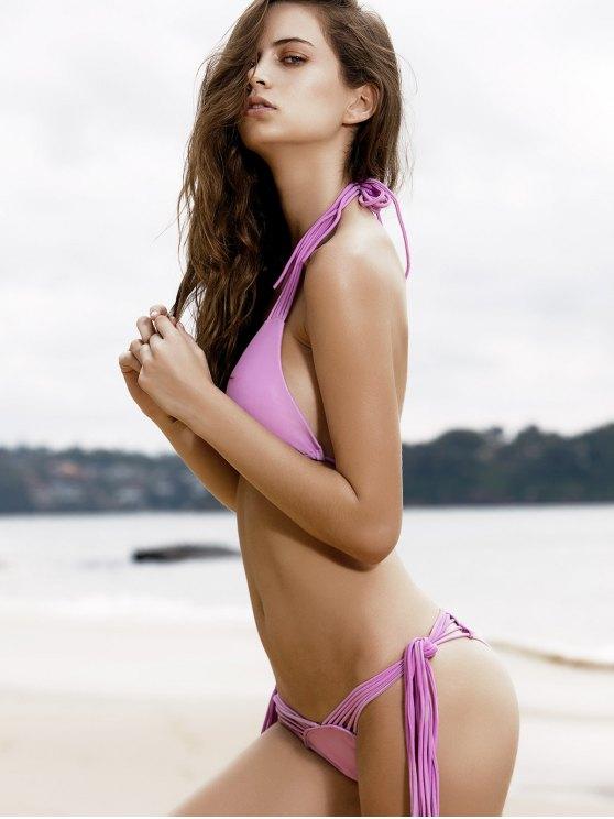 Purple String Bikini Set - PURPLE M Mobile