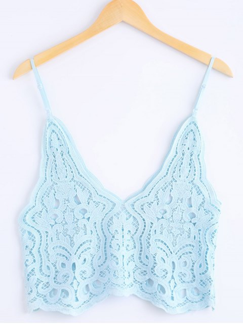 outfit Knitted Spaghetti Straps Tank Top - AZURE ONE SIZE(FIT SIZE XS TO M) Mobile