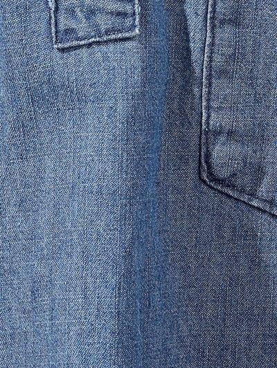 Two Pockets Oversized Denim Shirt - BLUE M Mobile