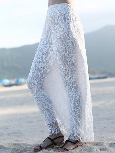 High Waist Full Lace A Line Skirt