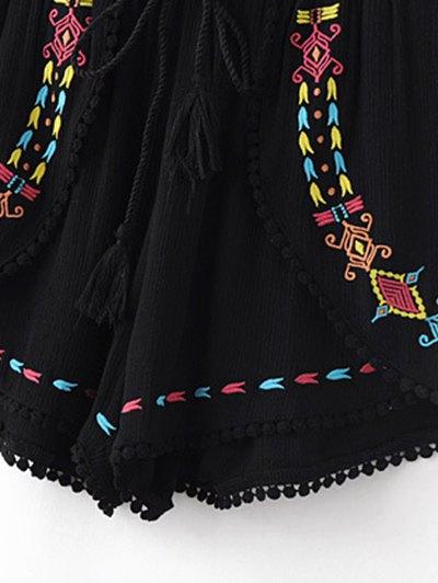 Ethnic Embroidery High Waisted Shorts от Zaful.com INT