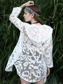 Hooded Lace Sunscreen Blouse
