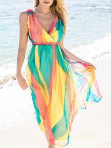 High Waisted Maxi Sundress