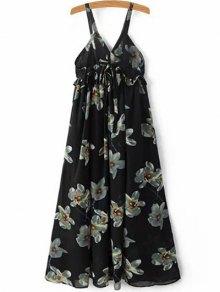 Floral Print Cami A-Line Dress