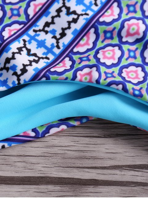 lady Macrame Back Bikini Set - BLUE S Mobile