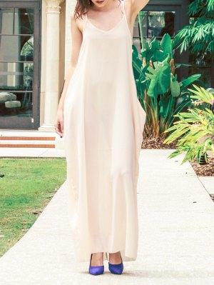 Cami Solid Color Maxi Dress - Apricot