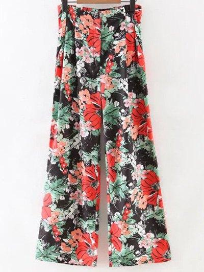 Wide Leg Floral Pants