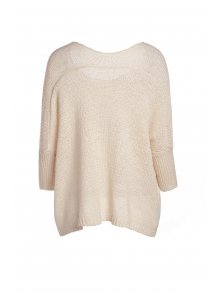 Solid Color Front Pocket Loose Sweater - APRICOT ONE SIZE(FIT SIZE XS TO M)