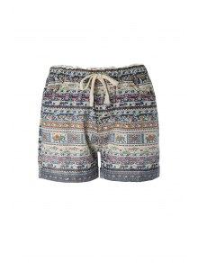 Tiny Floral Elephant Print Shorts