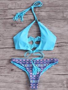 Macrame Back Bikini Set