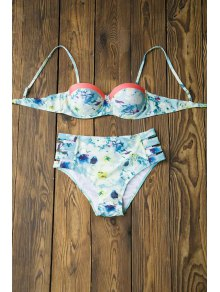 Floral Print Cami Push-Up Bikini Set